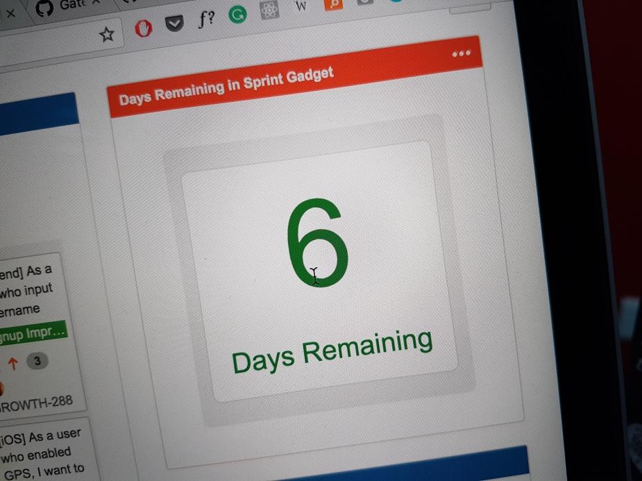 Sprint countdown clock